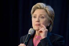 Hillary clinton, wiec zdjęcia stock