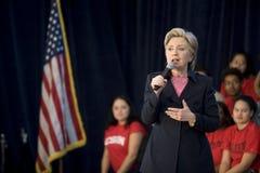 Hillary clinton, wiec zdjęcie stock