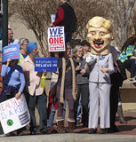 Hillary Confronted By Bernie Sanders Supporters Parody Stock Image