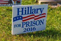 Hillary för fängelseaktiontecken Royaltyfri Bild