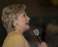 Hillary habla en Dallas Foto de archivo libre de regalías