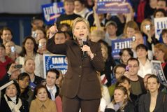Hillary at the meeting Stock Photos
