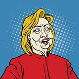 Hillary Pop Art Portrait Stock Photography