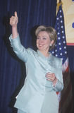 Hillary Rodham Clinton. Speaks at the National Caucus of Latino Delegates, at the 2000 Democratic Convention at the Staples Center, Los Angeles, CA stock photography