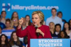 Hillary Rodham Clinton in Harrisburg PA Royalty Free Stock Photography
