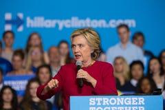 Hillary Rodham Clinton på samlar i Harrisburg Arkivbilder
