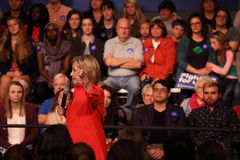 Hillary Rodham Clinton speaks at Grinnell College Stock Image
