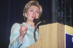 Hillary Rodham Clinton, speaks at the National Caucus of Latino Delegates, at the 2000 Democratic Convention at the Staples Center Royalty Free Stock Photography