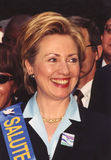 Hillary Rodham Clinton. Then First Lady and US Senatorial candidate Hillary Rodham Clinton, marches at the head of the Salute to Israel parade up New York City's royalty free stock photo