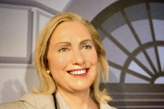 Hillary Rodham Clinton Wax Figure. Hillary Diane Rodham Clinton is a former United States Secretary of State, U.S. Senator, and First Lady of the United States Stock Photography