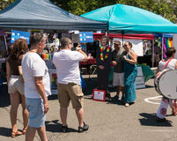 Hillary's stand at Rockland Pride festival Stock Photography
