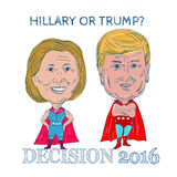 Hillary or Trump Decision 2016 Stock Images