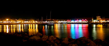 Hillarys Boat Harbor. Night photograph of Hillarys Boat Harbor. Located in Perth, Western Australia royalty free stock images
