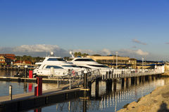 Hillarys Boat Harbour. Hillarys boat harbor north of Perth, Western Australia Royalty Free Stock Image