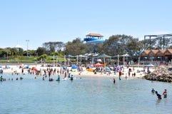 Hillarys-Hafen-Bucht und Strand Stockbilder