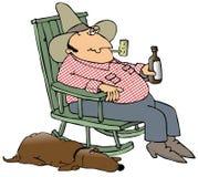 Hillbilly e seu cão ilustração royalty free
