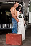 Hillbilly wedding. (Shirtless guy NO preacher&#x29 Stock Image