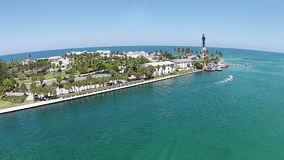 Hillboro inlet in South Florida aerial view Stock Photography