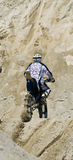 Hillclimber on motorbike Stock Photography