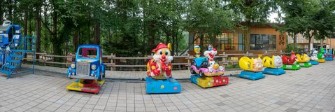 Hillcrest (插孔小山)场面, Eco主题乐园在大邱市,韩国 免版税图库摄影