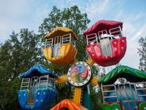 Hillcrest (Hubheuvels) scène, Eco-themapark in Daegu-stad, Korea royalty-vrije stock afbeelding