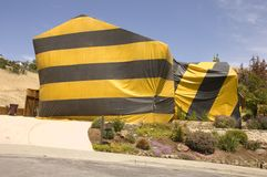 Hilldie home tented for termite eradication Stock Image