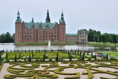 Hillerod Castle, Denmark. Hillerod Castle and his gardens, Denmark Royalty Free Stock Images
