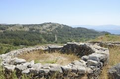 Hillfort  in Cangas Royalty Free Stock Images