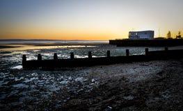 Hillhead Sunset. Hillhead beach and sailing club, Fareham @ sundown Royalty Free Stock Images