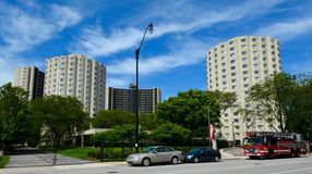 Hilliard Towers Complex Under Cirrus Clouds Stock Photos