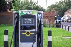 HILLINGDON, LONDON, ENGLAND - 13 August 2021: BP Pulse electric vehicle charging point
