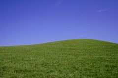 Hilll et ciel Photo libre de droits