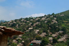 Hillmen-Dorf Stockbilder