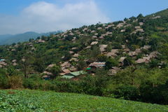 Hillmen village. At tak province, thailand Royalty Free Stock Photography