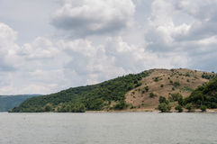 Hillock along the Danube River Royalty Free Stock Image