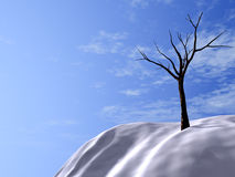 Hills. Snow-bound hills, brightly-blue sky and asleep trees Stock Images