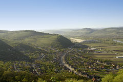 Hills. Deva, Romania - General City View Royalty Free Stock Images