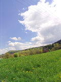 Hills. Rolling hills and meadows in the countryside Royalty Free Stock Photos
