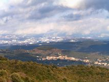 Hills. It's a landscape in Italy, Tuscany, during the winter time stock photography