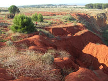 Hills in the abandoned bauxite quarry  Stock Images