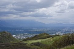 The hills above salt lake city valley royalty free stock image