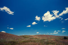 The hills against the blue sky Royalty Free Stock Image