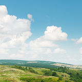Hills against the blue sky Royalty Free Stock Images