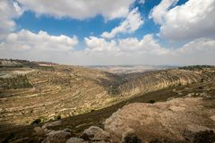 Hills along Way of the Patriarchs. Israel. Hills along Way of the Patriarchs or Way of the Fathers. The name is used in biblical narratives that it was royalty free stock images