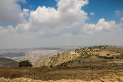 Hills along Way of the Patriarchs. Israel. Hills along Way of the Patriarchs or Way of the Fathers. The name is used in biblical narratives that it was royalty free stock photo