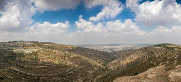 Hills along Way of the Patriarchs. Israel. Hills along Way of the Patriarchs or Way of the Fathers. The name is used in biblical narratives that it was royalty free stock image