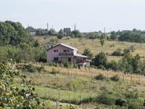 Hills around Ploiești, Romania. View of the hillside area around the city of Ploiești, Romania Stock Photo