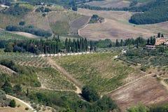 Hills around San Gimignano Stock Photos