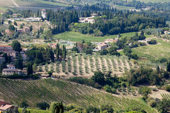 Hills around San Gimignano. Stock Photos
