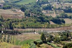 Hills around San Gimignano. Stock Photo